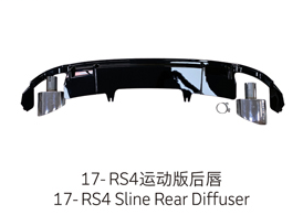 17-19 RS4 Sline Rear Diffuser